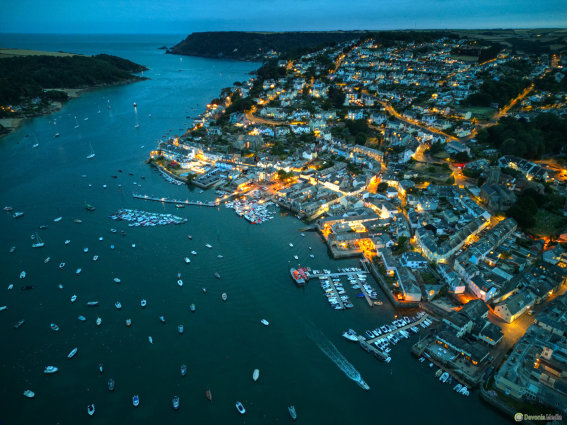 Aerial photo of the Bowden Estate, near Dartmouth